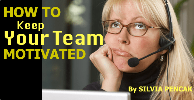 how to keep team motivated