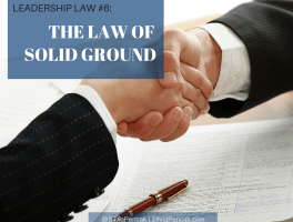 The Law of Solid Ground: Choose to earn TRUST daily