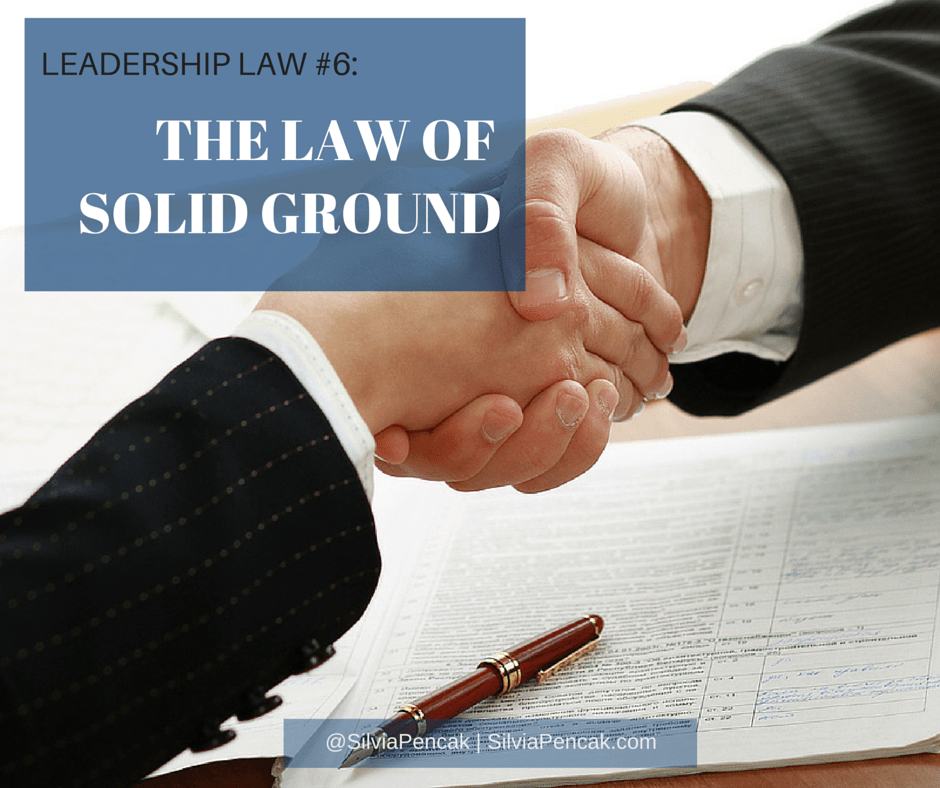 The Law of Solid Ground