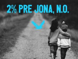 JONA, n.o. 2%